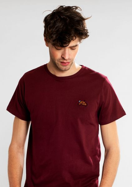 DEDICATED - STITCH BIKE Stockholm Shirt burgundy